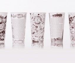 Vasos y bolsas de papel para cultivar el pensamiento
