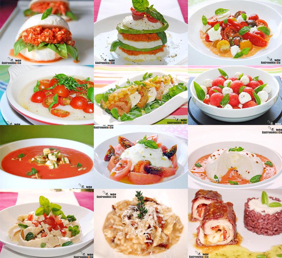 Doce recetas con tomate y mozzarella