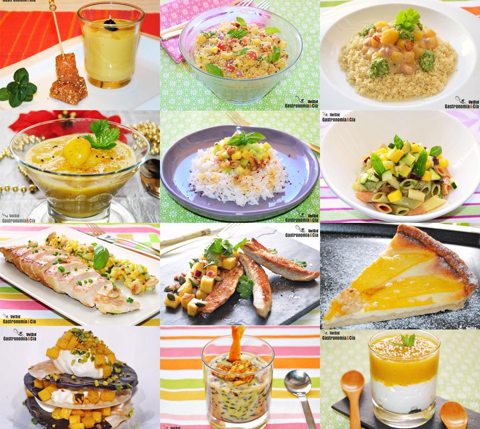 Doce recetas con mango, fáciles y deliciosas