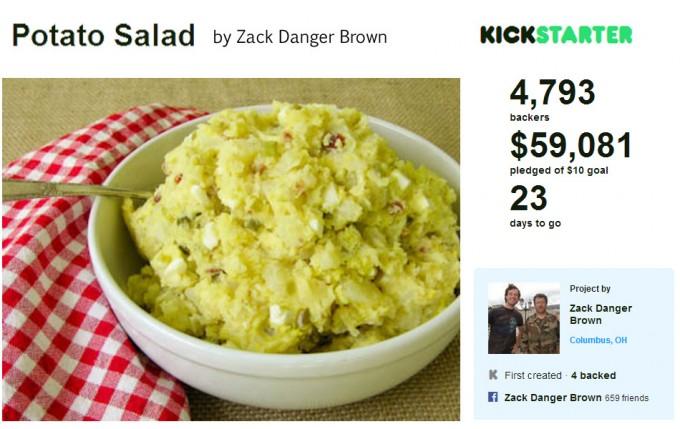 Financiar una ensalada de patata