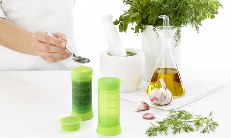Herbstick, para congelar hierbas aromáticas