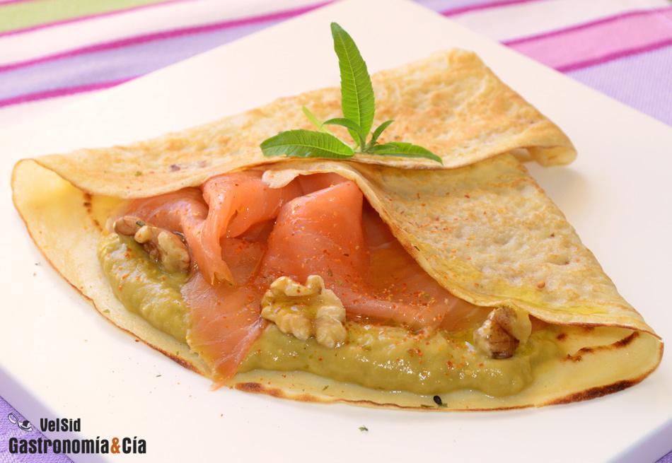 Crepes de salm n aguacate y hierba luisa gastronom a c a for Salsa de hierba luisa