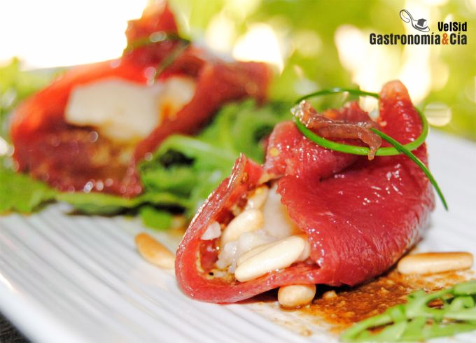 Saquitos de carpaccio