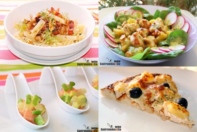 Aperitivos, ensaladas, pizza...