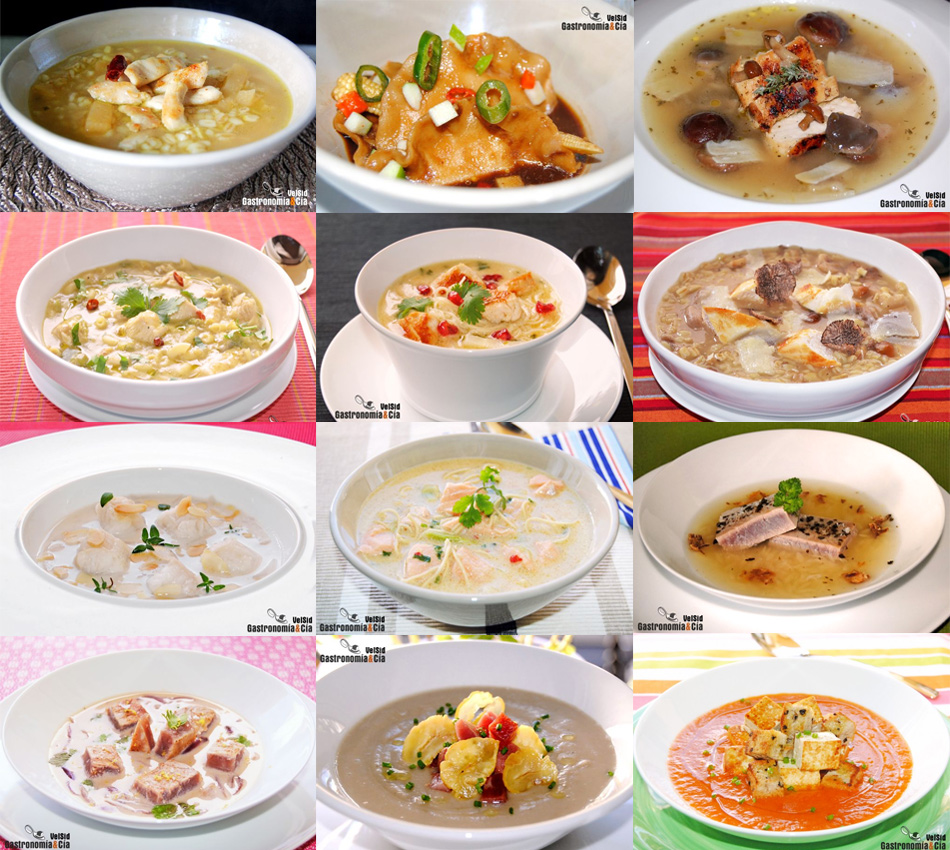 Doce recetas de sopa con prote na for Tipos de platos