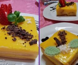Pastel con crema de naranja