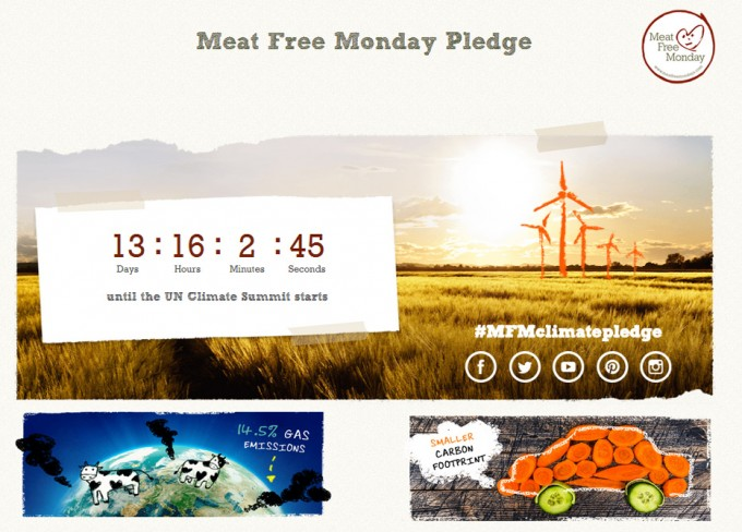 Meat Free Monday Pledge
