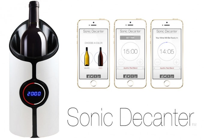Decantar un vino con ultrasonidos