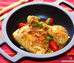 Receta de pollo al limón con albahaca