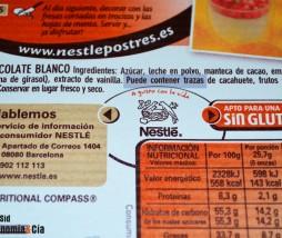Etiqueta 'puede contener trazas'