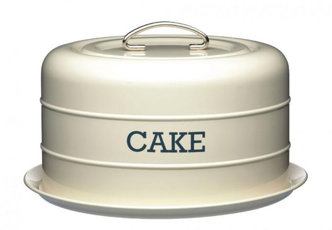 Living Nostalgia Antique Cream Domed Cake Tin Kitchen Kraft