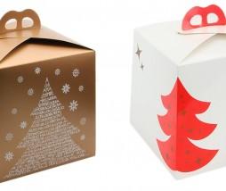 Caja para panettone de Navidad