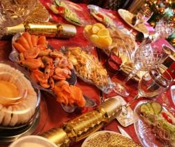 Exceso de comida en Navidad