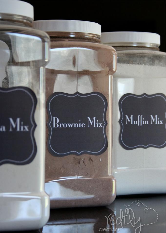 Etiquetas para mezclas de recetas