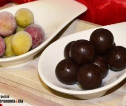 Uvas y chocolate