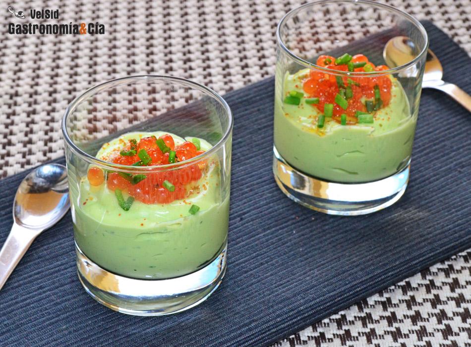 Recetas de aperitivos fríos en vaso