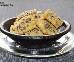 Chips de tofu con chile y limón