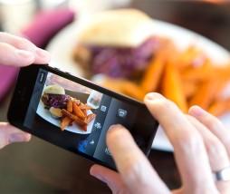 Hacer fotografías en los restaurantes