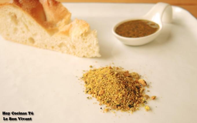 Dukkah de pistachos