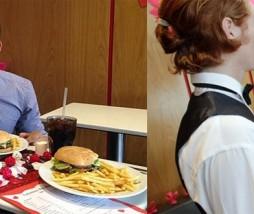 San Valentín en un Mcdonalds