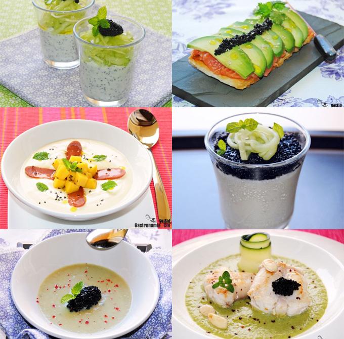 Doce recetas con huevas de salmón, de arenque, de lumpo, de maruca...