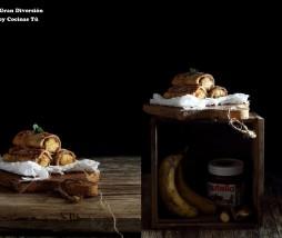 Torrija de plátano y Nutella