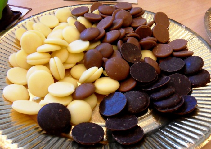 Pastillas de chocolate