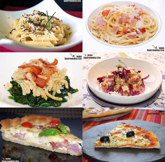 Pasta, verduras, arroz, pizza, quiches...