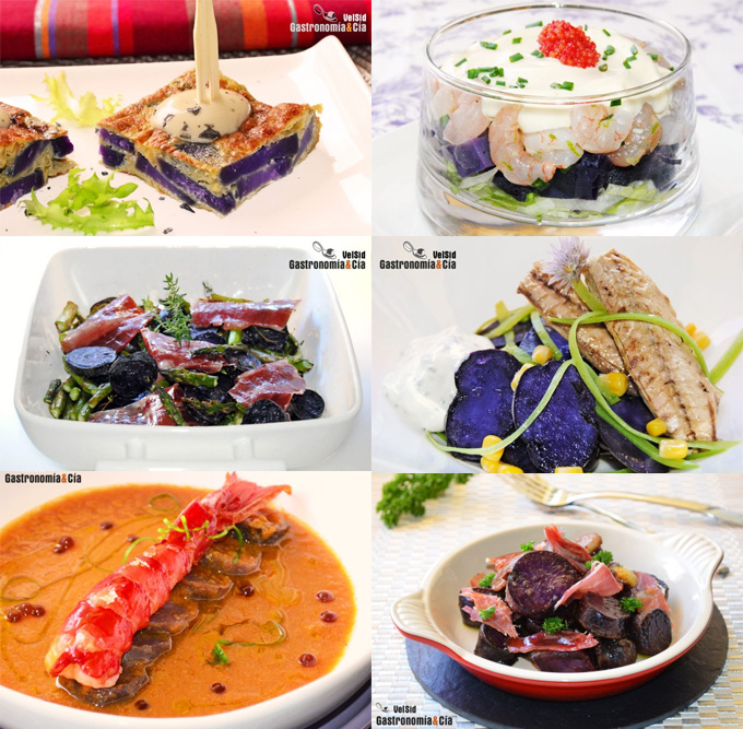 Recetas con patata violeta