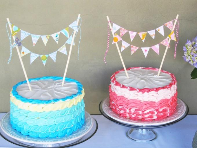 C mo hacer guirnaldas para decorar una tarta gastronom a - Guirnaldas para fiestas infantiles ...