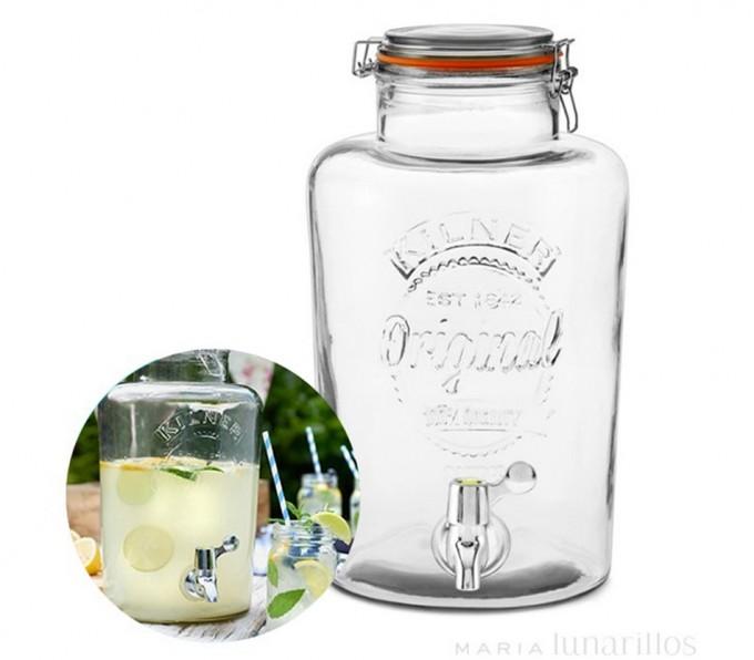 Dispensador de bebidas con grifo Kilner | Gastronomía & Cía