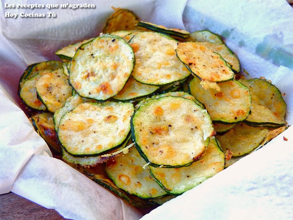 Hoy cocinas t chips de calabac n y parmesano for Platos faciles para sorprender
