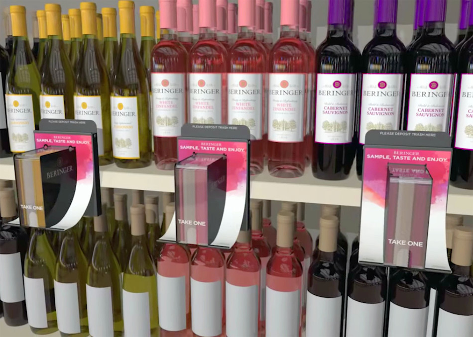 Tiras solubles de cata para probar los vinos antes de comprarlos