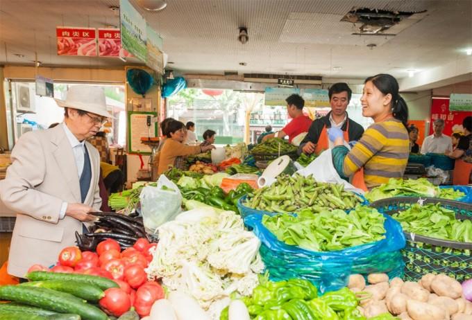 Mercado de alimentos ecológicos  en China