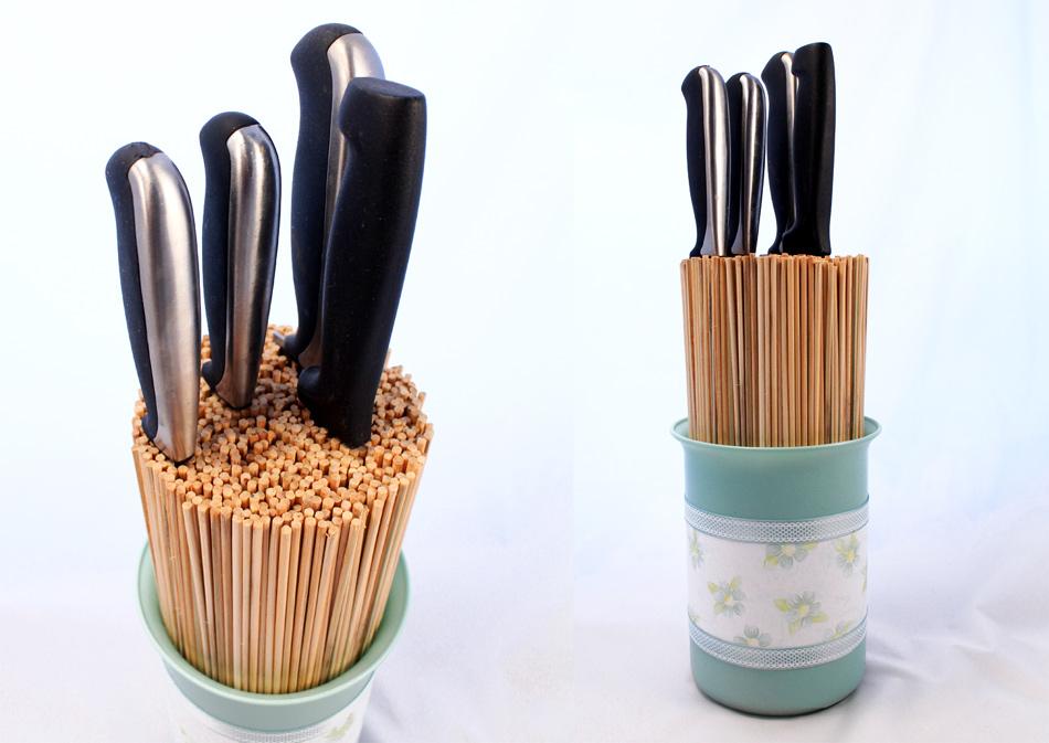 C mo hacer un taco o soporte para cuchillos de cocina for Cuchillos de cocina