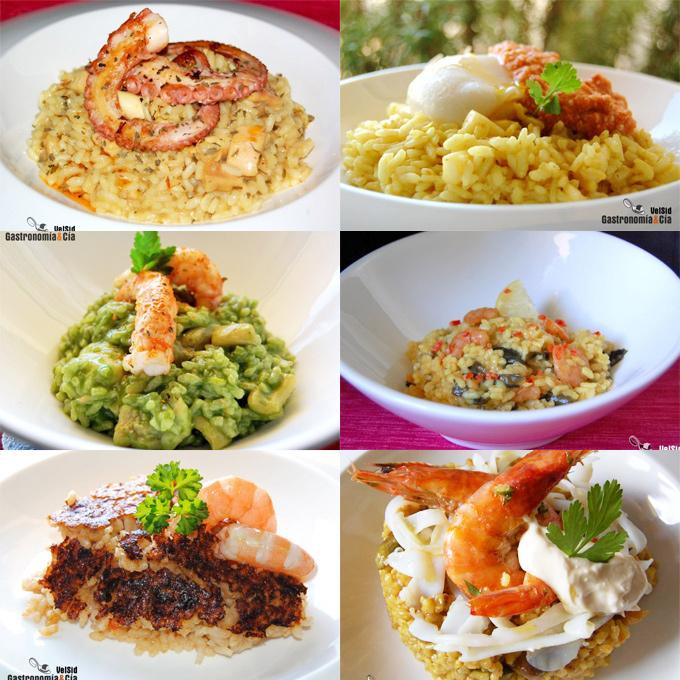 Doce recetas de arroz con pescado y marisco