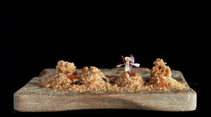 Desierto de foie con rocas de avellana y Armagnac Restaurante Annua