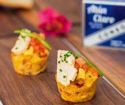 Pastel de patata y pimiento con atún