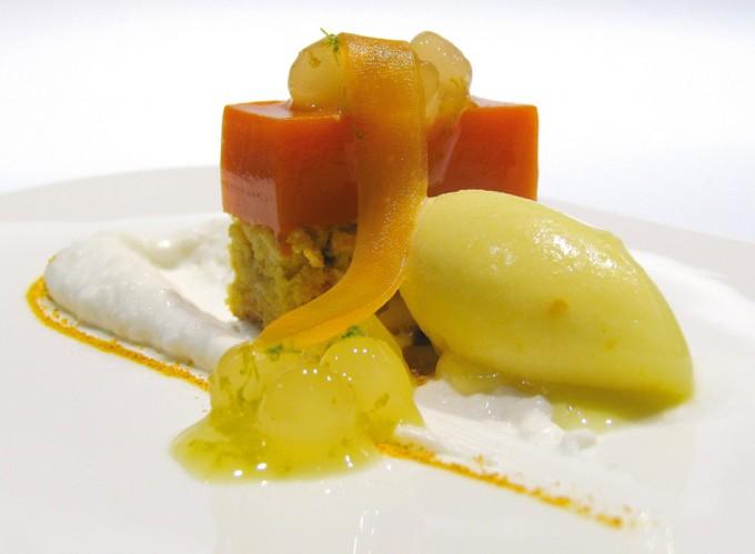 Pastel de zanahoria con coco, naranja y jengibre de Espai Sucre