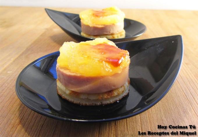Hoy cocinas t medall n de foie y pur de manzana for Que es cocina de autor