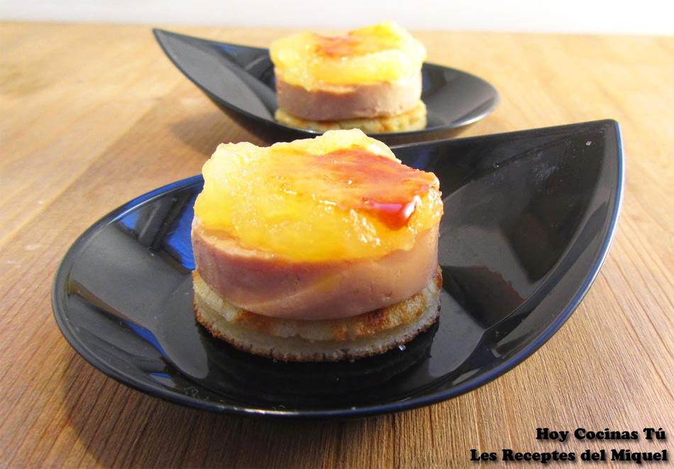 Hoy cocinas t medall n de foie y pur de manzana - Pure de castanas y manzana ...