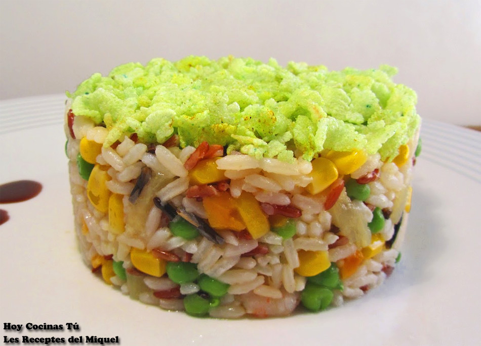 Hoy cocinas t ensalada de arroz en dos texturas - Ensalada de arroz light ...