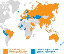 Países visitados por Barack Obama