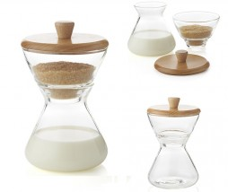 CHEMEX® Handblown Cream & Sugar Set