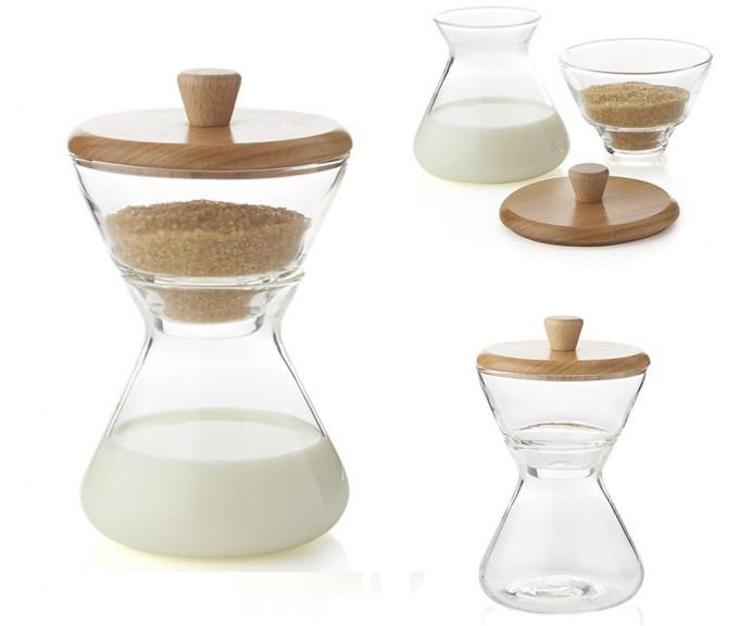 CHEMEX® Handblown Cream & Sugar Set