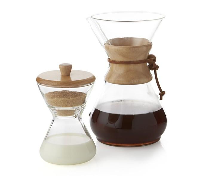 Cafetera, azucarero y jarrita