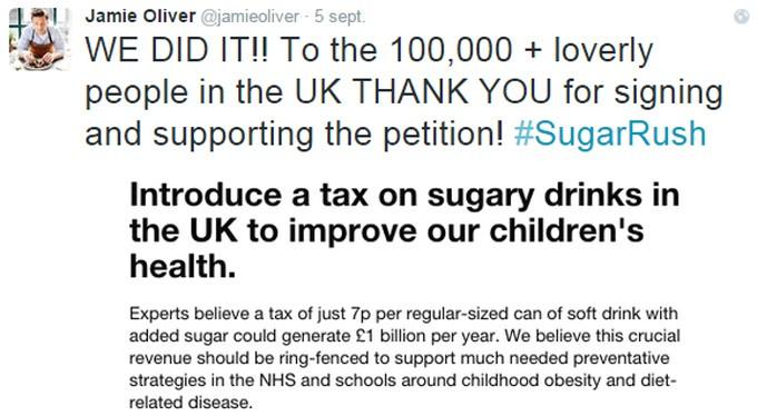 Bebidas y refrescos azucarados en el Reino Unido