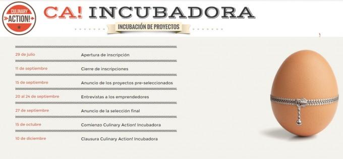 Incubación de proyectos gastronómicos