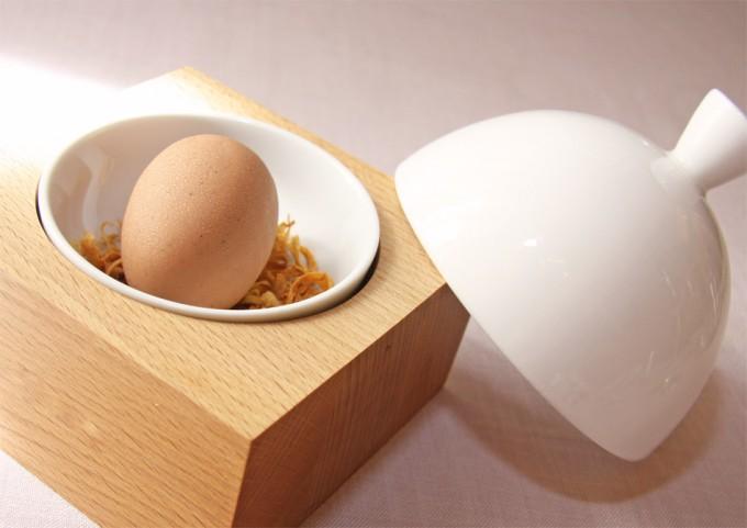 Trampantojo de huevo poché