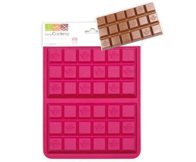 Molde de silicona tabletas de chocolate